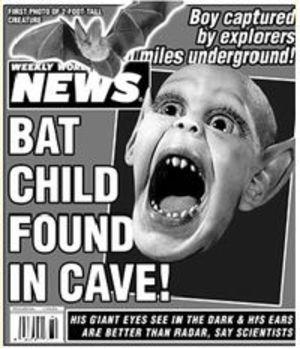 reading tabloids batboy real